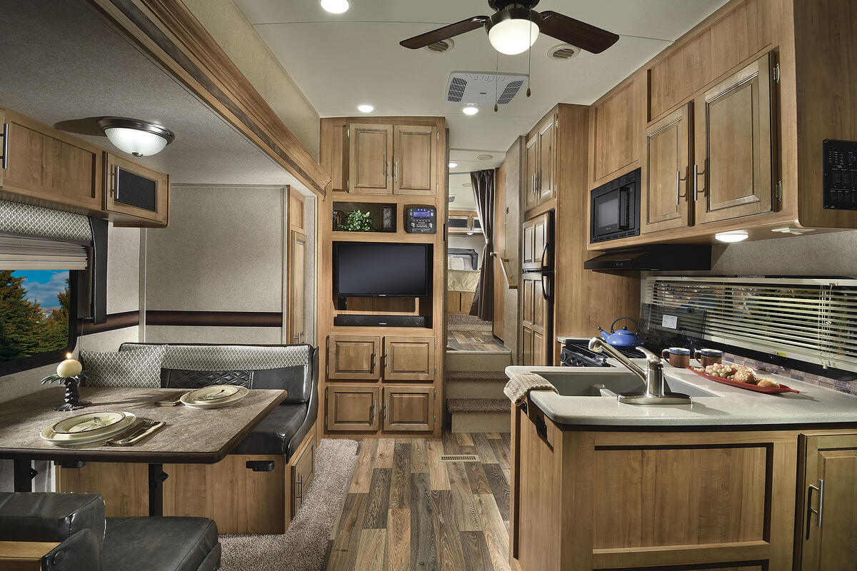 The interior of the Rockwood Signature Lite Fifth Wheel 2440WS.