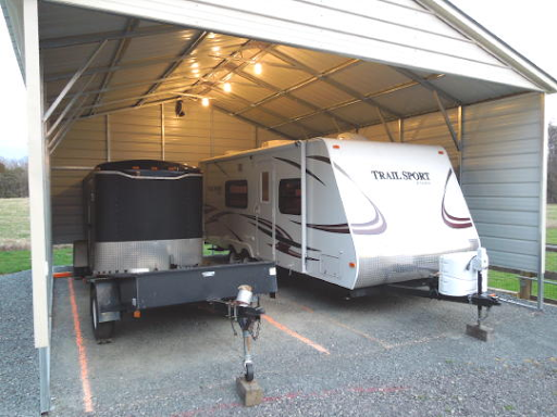 Covered storage for your RV during the off-season is a nice luxury